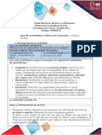 Activity Guide and Evaluation Rubric - Task 2 - Writing