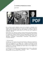 Cuatro corrientes en filosofía de la ciencia