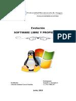 Evolución del software libre y popietario