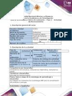 Guía de actividades y rúbrica de evaluación – Paso 1 – Actividad de reconocimiento