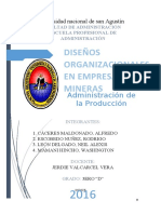 DISEÑO ORGANIZACIONAL EMPRESA MINERA 1