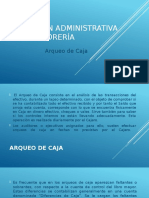 Gestión Administrativa de Tesorería (Arqueo de Caja)