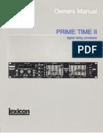 Lexicon Prime Time 2 Manual