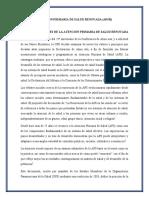 ATENCIÓN PRIMARIA DE SALUD RENOVADA