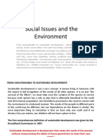 Social Issues and the Environment