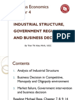 KTEE312-Chap4- Industrial Structure, Government Regulation and Business Decision