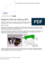 Magnetic Particle Testing (MT)