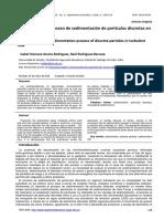 Evaluación del proceso de sedimentación de partículas discretas en flujo turbulento