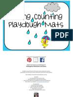 Spring Counting Playdough Mats