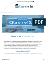 Cita en el SAT - Manual de Registros y pasos sobre Registros Financieros 2020 Mexico