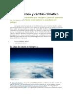 Capa de ozono y cambio climático