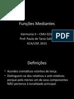 Funções Mediantes (SALLES 2012)