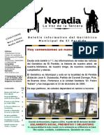 """""""NORADIA. La Voz de la Tercera"""". Boletín informativo del Geriátrico Municipal de El Perdido."""