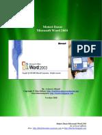 Materi Dasar Word 2003