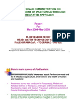 Large Scale Demonstration on Managemnent of Parthenium Through Integrated Approach