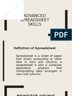 Advanced Spreadsheet Skills Presentation