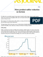 Special Report More Product-sulfur Reduction on Horizon