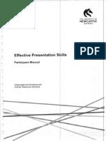 Effective Presentation Skills - Participant Manual - Organisational Development Human Resource Services - Course