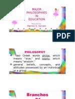 Philosophies Report