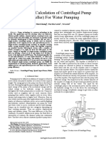 Design and Calculation of Centrifugal Pump (Impeller) For Water Pumping