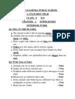 super senses notebook work