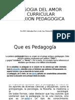PARA DAR CLASE PEDAGOGIA DE AMOR
