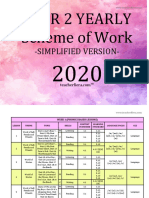 y2 Simplified English Yearly Sow 2020