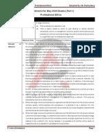 Part I - Professional Ethics Amendment 2020