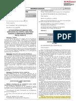 Decreto Legislativo REACTIVA PERU N° 1455