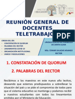 REUNIÓN DE DOCENTES TELETRABAJO
