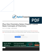 Plus One Chemistry Notes Chapter 1 Some Basic Concepts of Chemistry - A Plus Topper