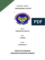 ekonomi makro 2 sektor