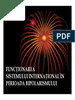 Functionarea Sistemului International Bipolar