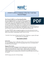 2020-21 summary of the nys enacted budget
