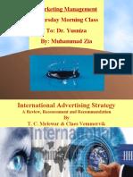 Marketing Presentation on International Advertising Strategy