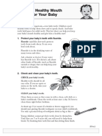 healthy baby Fact sheet