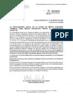 COMUNICADO 01-2020 suspensión prosoc