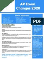 exam changes