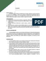 MinvuConecta 2018.07_Protocolo Municipalidades