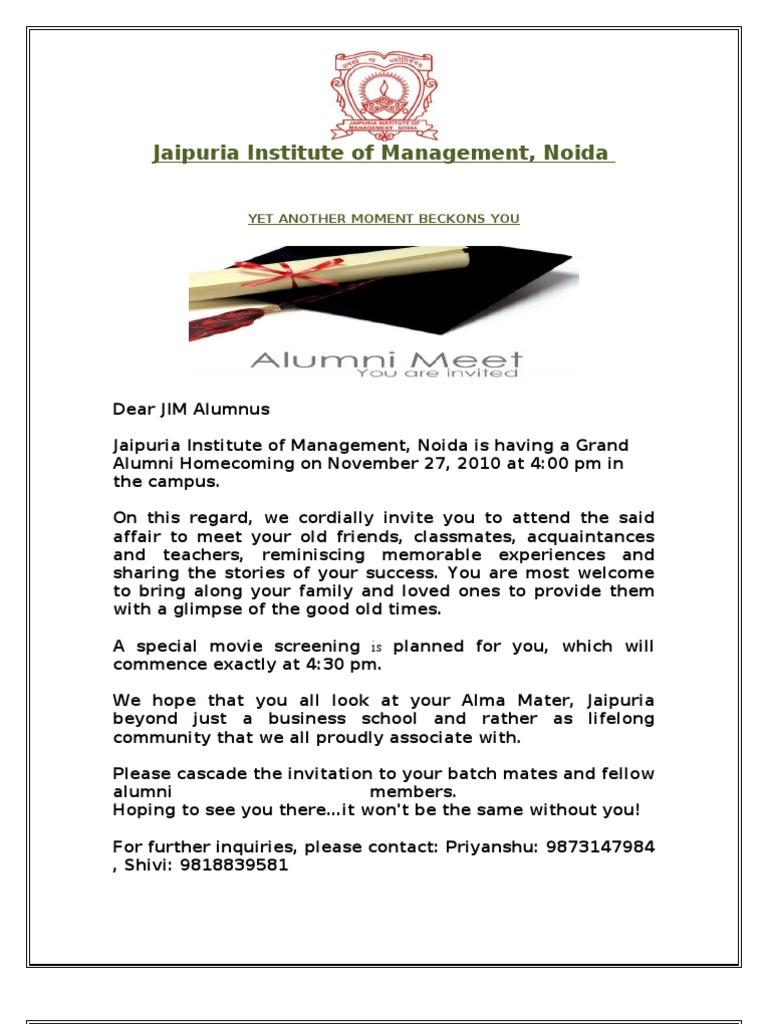 Copy of invitation letter alumni 2 spiritdancerdesigns Choice Image