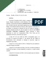 Sentencia Rol C-17866-2016