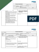 Technical Clarification sheet