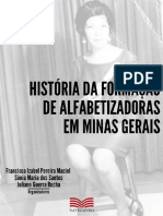 Livro História da formação de alfabetizadoras em Minas Gerais