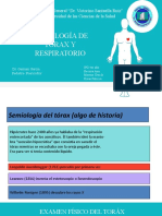 Semiología del toráx y respiratorioo