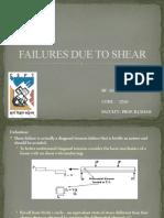 Failures Due to Shear