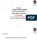 Lecture 13 Environmental Studies (Wastewater Treatment)