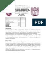 Práctica 10. PROPIEDADES DE LOS COMPUESTOS FORMADOS CON ENLACE