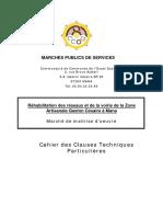 REHABILITATION DES RESEAUX ET DE LA VOIRIE CCTP