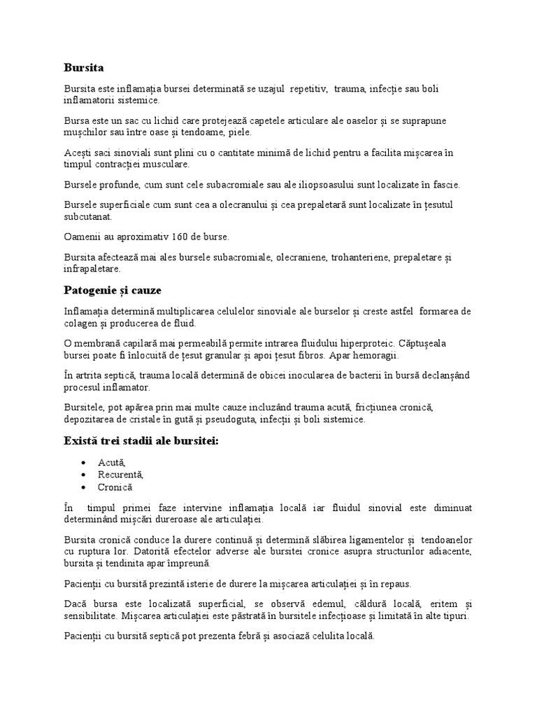 bursita iliopsoasului)