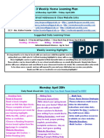 april 20 - april 24 - grade 3 weekly home learning plan